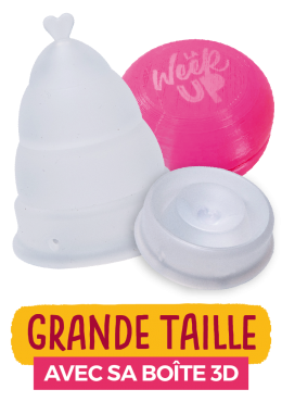 cup menstruelle transparente grande taille