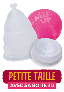 cup menstruelle transparente petite taille