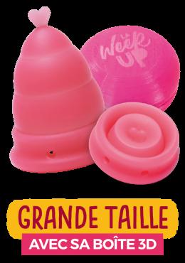 coupe menstruelle rose grande taille